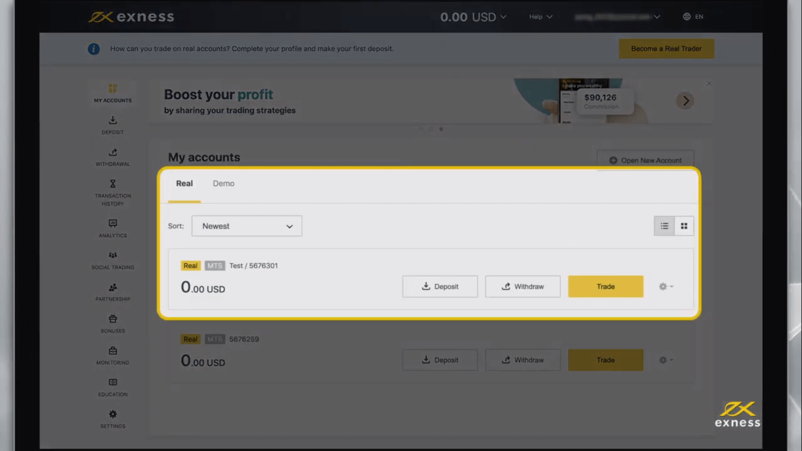 How to Sign Up and Login Account in Exness MT4/MT5